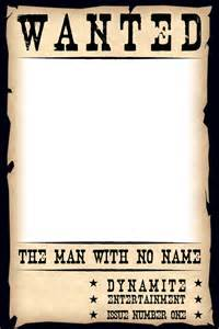 Free Blank Wanted Poster Template