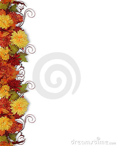 fall leaves  flowers border stock images image