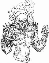 Coloring Pages Ghost Rider Ghostrider Cartoon sketch template