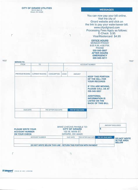 city  girard water department  pay