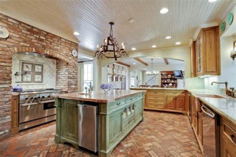 brick floor in kitchen monday morning millionaire go to cajun country 4883