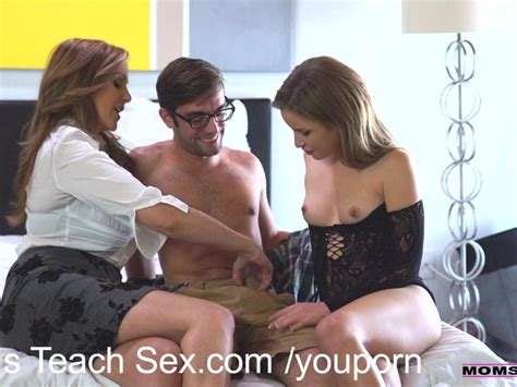Momsteachsex Step Mom Fucks Son In Hot Threesome Free Porn Videos Youporn