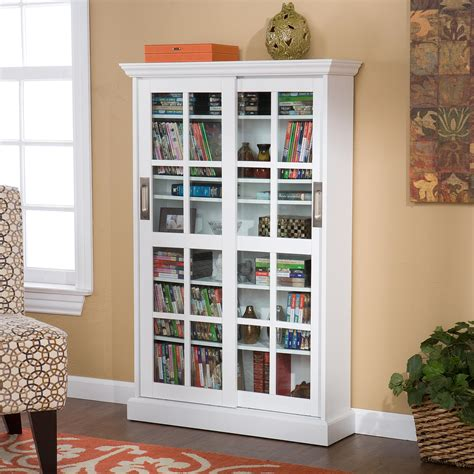 dvd storage cabinet with sliding glass doors amazon com sliding door media cabinet white kitchen