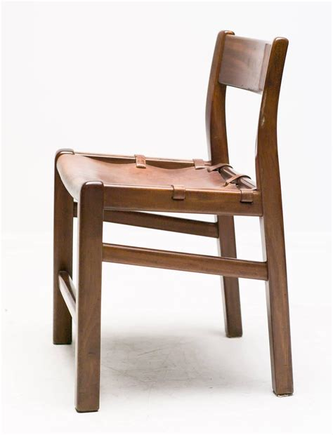 set of four sling leather dining chairs at 1stdibs