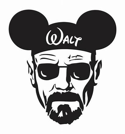 Walter Bad Breaking Mickey Disney Silhouette Svg