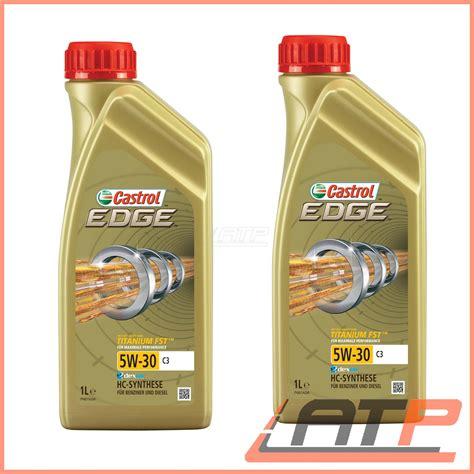 castrol edge motorenöl 5w 30 5l 2x 1 l litre castrol edge titanium fst 5w 30 c3 engine bmw longlife 04 ebay