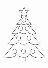 Tree Coloring Printable Chrismas Holiday Holidays sketch template