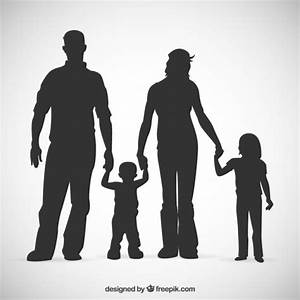 Family silhouettes Vector | Free Download