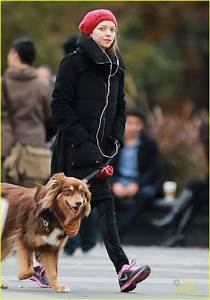 Amanda Seyfried Takes Dog Walk After Hanging with Taylor ...