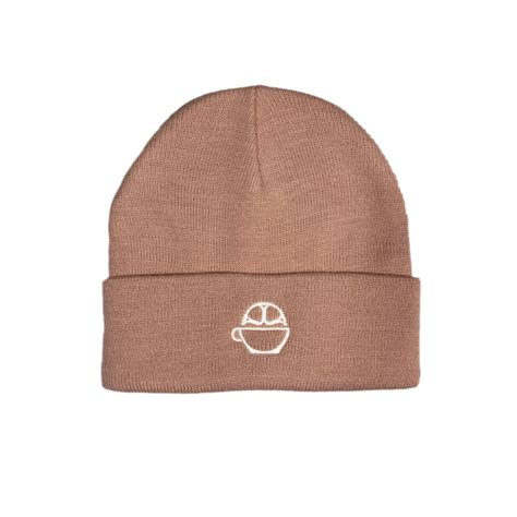 A playful logo of a coffee bean and smell signs combined into locomotive. Cuffed Beanie - Bicycle Coffee Company