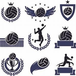 volleyball logos illustration design vector free vector in With volleyball logo design templates