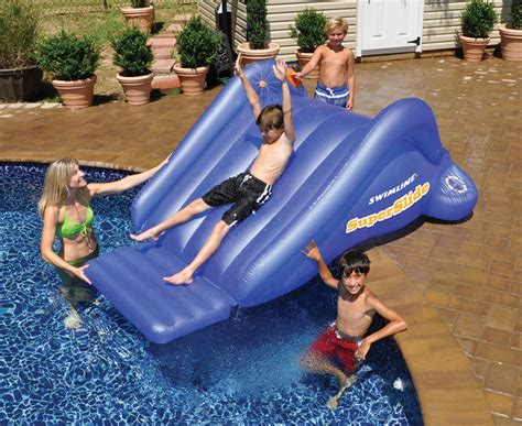 Swimline 90809 Super Water Slide Swimming Pool Inflatable