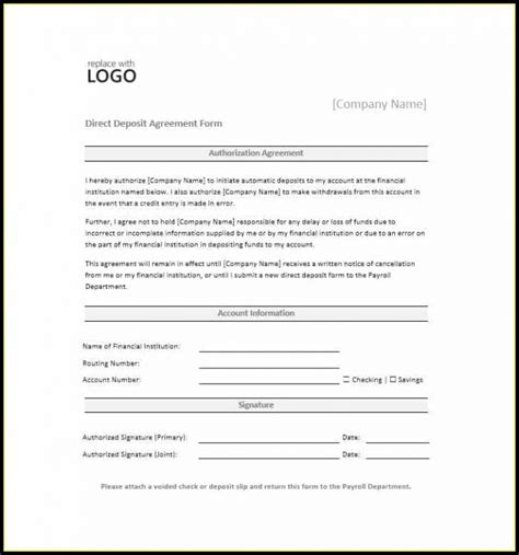 vendor ach authorization form template templates