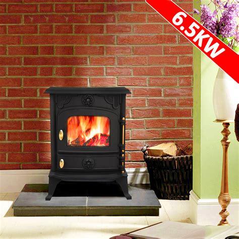 Saxilby 65kw Cast Iron Wood Log Burner Multifuel Woodburning Stove Woodburner Ebay