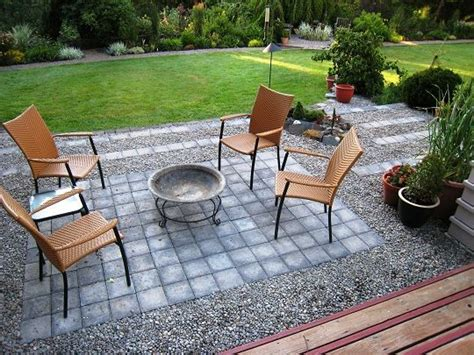 small gravel and paver patio diy patio ideas