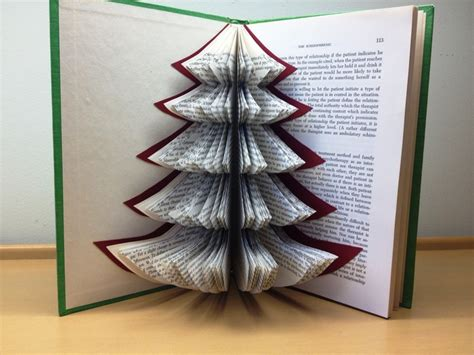 christmas tree recycled book art strategies of