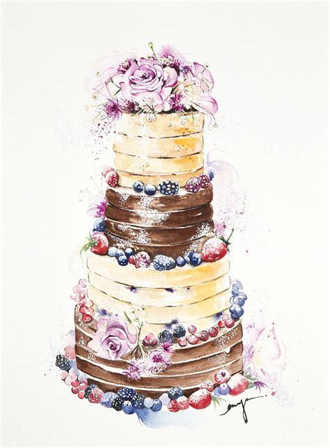 watercolor  cake sweet art food painting cake