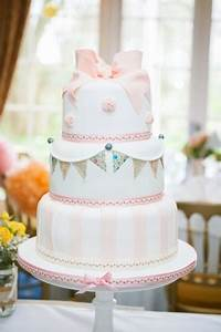 Peach Bunting Wedding Cake - The Winchester Cake Parlour