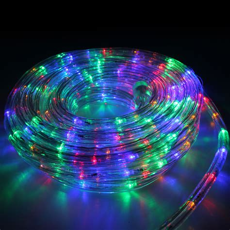 rope light led 10m multi colour lighting outdoor
