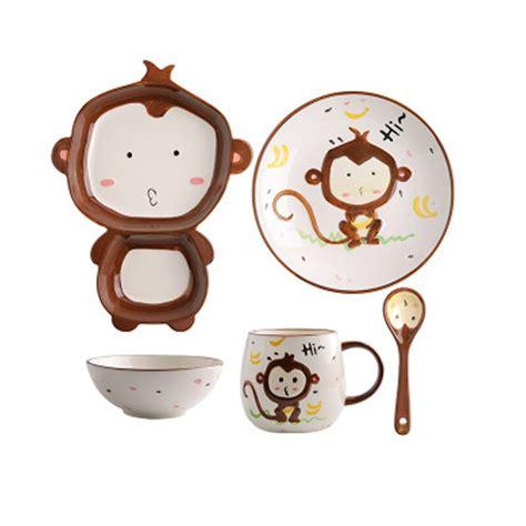 korean inch dishes monkey cute tableware jingdezhen authentic ceramic grade china plates