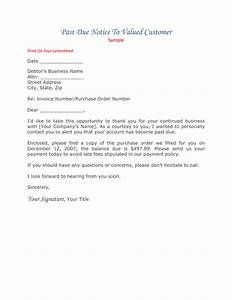 Past due invoice letter template resume builder for Past due invoice collection letter