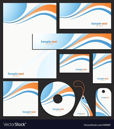 letterhead template design royalty  vector image