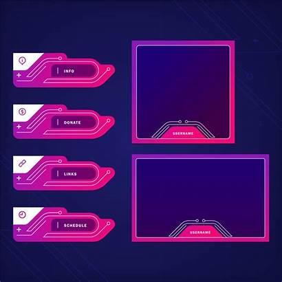 Twitch Panels Stream Vector Freepik Link Copy