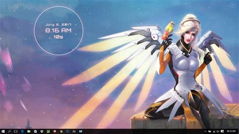 overwatch mercy wings wallpaper engine
