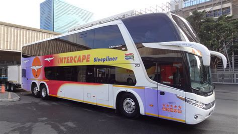 Intercape Sleepliner Bus And Luggage Trailer, Cape Town, S