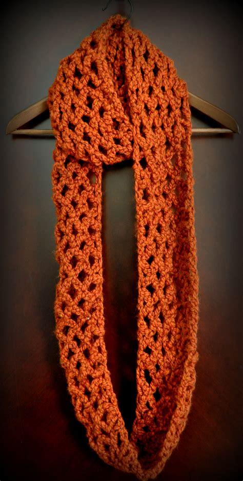 pattern diamond lattice chain crochet infinity scarf