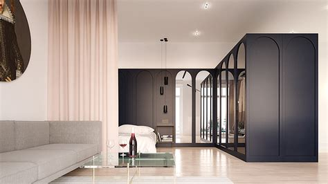 minimalist apartment interior design combines  simple