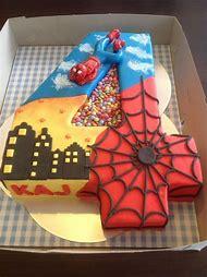 Boys Superhero Birthday Cake