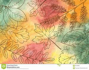 Hand Drawn Autumn Leaves Stock Vector - Image: 59726960