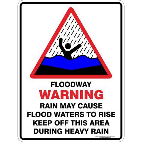 rain   flood water  rise australian safety signs