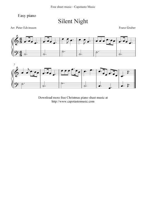 All ▾ free sheet music sheet music books digital sheet music musical equipment. Free easy Christmas piano sheet music, Silent Night