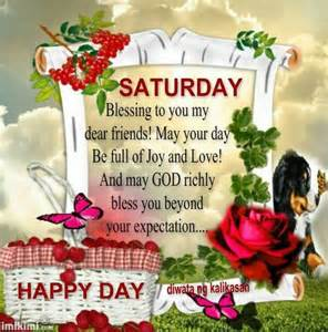 Happy Saturday God Bless You