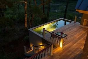 Eclairage Piscine Bois : 1001 conceptions cr atives pour une piscine sur lev e ~ Edinachiropracticcenter.com Idées de Décoration