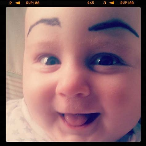 babies  funny eyebrows  funcage