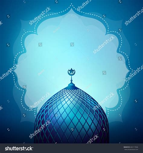 islamic design banner background template stock vector