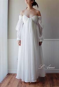 custom made ancient greece wedding dress made of chiffon With ancient greek wedding dresses