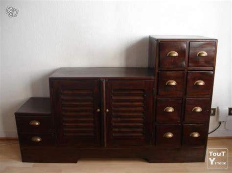 meuble escalier tv colonial bois massif bordeaux 33000