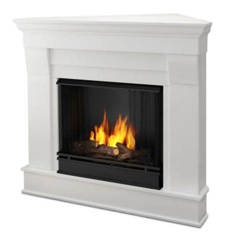 gas l mantles home depot real chateau 41 in corner ventless gel fuel