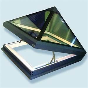 Ouverture De Toit : fen tre de toit pour toiture plate gv pyramide lectrique avec charni res glazing vision paris ~ Melissatoandfro.com Idées de Décoration