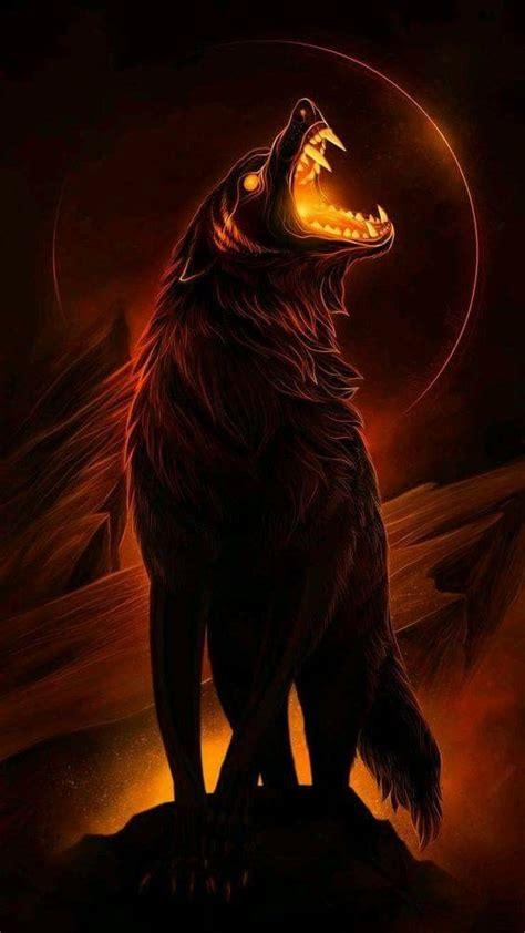 Alpha Wolf Blood Moon Wolf Wallpaper by Wolf Beautiful Artwork Wolf Wallpaper Wolf