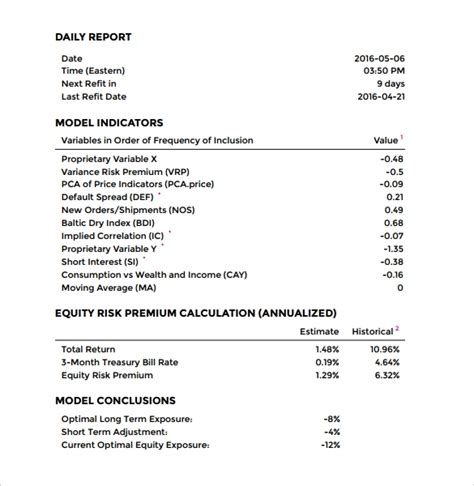 daily report template   samples examples format