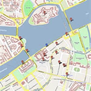 St. Petersburg Russia Map