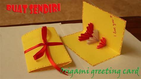 membuat origami kartu ucapan easy origami greeting card youtube