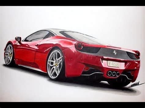 ferrari 458 sketch ferrari 458 italia speed drawing by roman miah youtube
