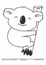 Coloring Koala Cartoon Kidzezone Koalas Worksheet Animals Letter Activity Bear Friends Tree Hugging Activities Colors Could Learning sketch template