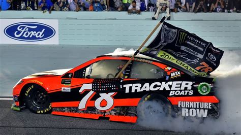 martin truex jr wins  race    monster energy